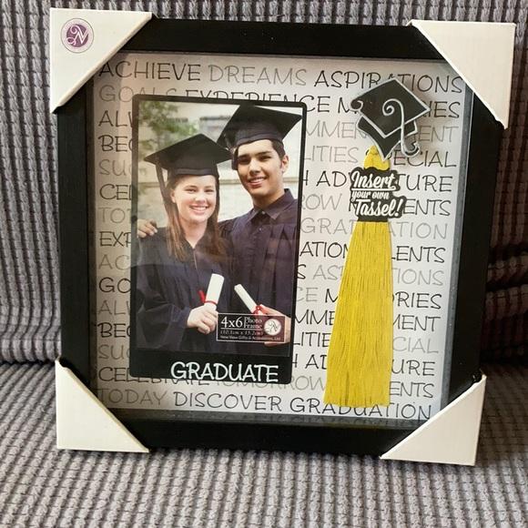 Graduation photo frame with tassel holder